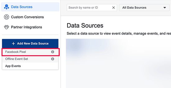 Facebook data source