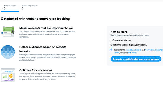 Générer une balise de site Twitter