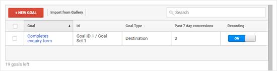 Objectifs dans Google Analytics